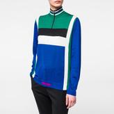 Paul Smith Women's Blue Colour-Block Wool-Silk Sweater