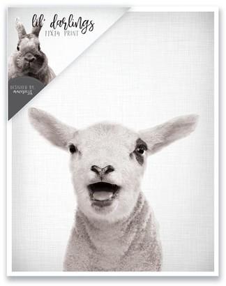 mavisBLUE Baby Sheep Print