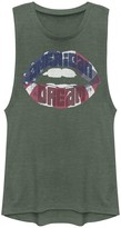 "Unbranded Juniors' ""American Dream"" Flag Lips Graphic Muscle Tee"