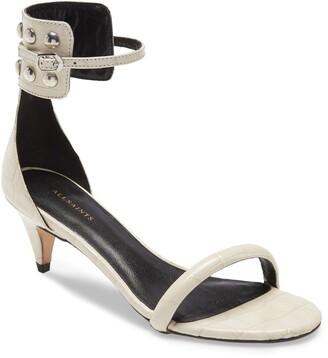 AllSaints Evie Ankle Strap Kitten Heel Sandal