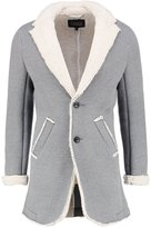 Solid Edris Short Coat Grey