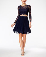 Xscape Evenings 2-Pc. Lace Illusion A-Line Dress