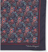 Salvatore Ferragamo Patchwork Chevron Silk Pocket Square