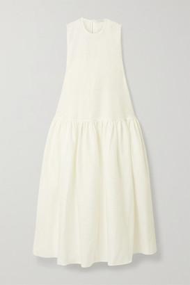 Cecilie Bahnsen Anna Karin Tiered Cloque Maxi Dress - White