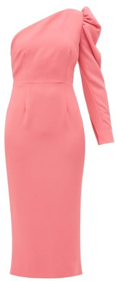 Racil Gaia One-shoulder Puff-sleeve Crepe Dress - Pink