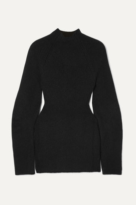 Chloé Cutout Ribbed-knit Sweater - Black