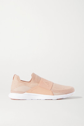 APL Athletic Propulsion Labs Techloom Bliss Mesh And Neoprene Slip-on Sneakers - Antique rose
