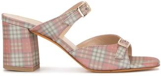 Maryam Nassir Zadeh Una check mule sandals