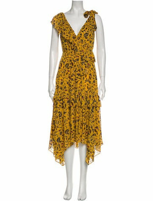 Ulla Johnson Silk Long Dress Metallic
