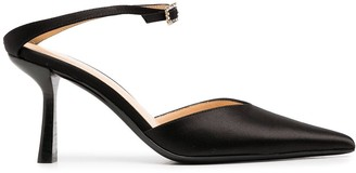 BY FAR Pointed Leather Pumps