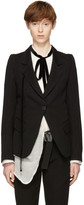 Ann Demeulemeester Black Single-Button Blazer