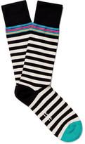 Paul Smith Striped Cotton-blend Socks - Black