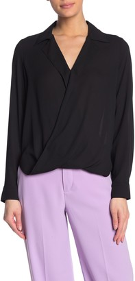 Fifteen-Twenty Notch Collar Surplice Neck Crossover Top