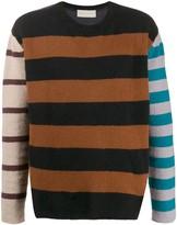 Paura panelled striped jumper