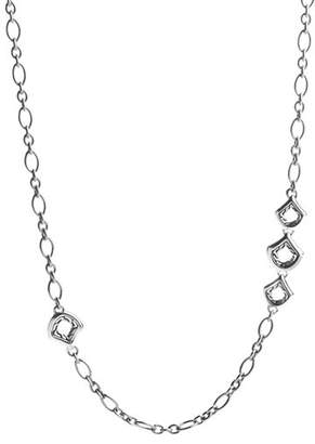 """John Hardy Naga Sterling Silver Figaro Chain Necklace with Figurative Clasp, 36"""""""