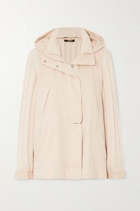 Loro Piana Paddington Ribbed Cashmere And Shell Hooded Jacket - Ivory