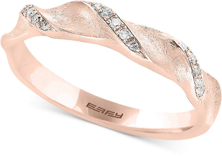 Effy Diamond Accent Ribbon Ring
