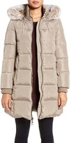 Gallery Women's Hooded Down & Feather Fill Stadium Jacket With Faux Fur Trim