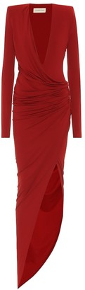 Alexandre Vauthier Asymmetric stretch-jersey gown