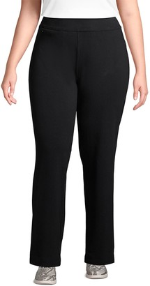 Lands' End Plus Size Starfish Straight-Leg Pull-On Pants
