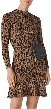Whistles Animal-Jersey Printed Flounce Dress