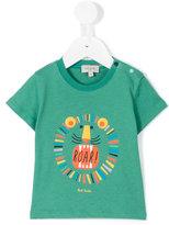 Paul Smith lion print T-shirt - kids - Cotton - 6 mth