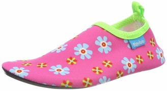 Playshoes Unisex Kid's Barefoot Aqua Socks with UV Protection Flowers Water Shoes