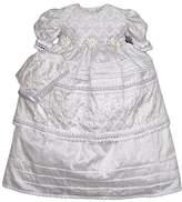 Baby-girls Heirloom Christening Baptism Gown Dress (Burbvus Ropones) Handmade - Silk