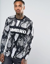 House of Holland x Umbro Long Sleeve T-Shirt In Snake Print