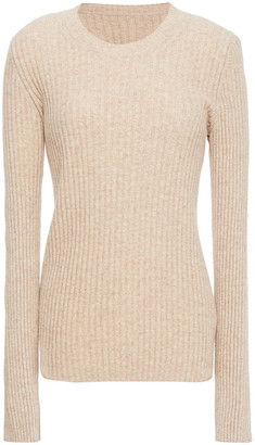 MM6 MAISON MARGIELA Tie-detailed Ribbed Wool-blend Sweater