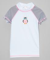 Beach Rays White Owl Rashguard - Toddler