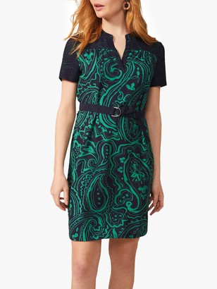 Phase Eight Samaya Dress, Navy/Green