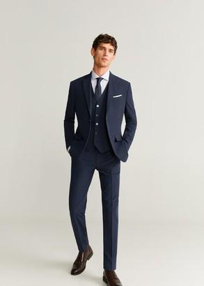 MANGO MAN - Slim fit suit gilet navy - 38 - Men