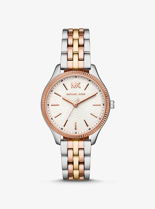 Michael Kors Lexington Tri-Tone Watch - Tri Tone