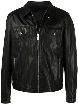 Diesel Leather Shirt Jacket