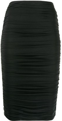 Alice + Olivia Ruched Midi Skirt