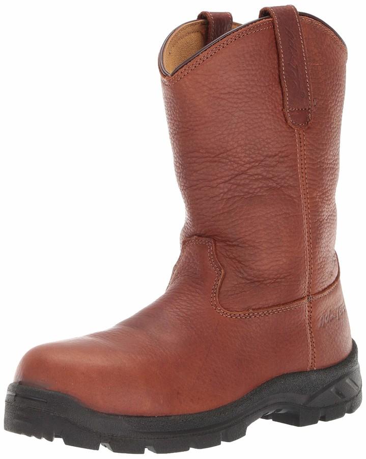 "AdTec Men/'s 8/"" Full-Grain Tumbled Leather Plain Toe Work Boots 1623"