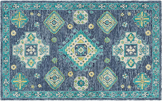 One Kings Lane Vogt Kids' Rug - Turquoise - turquoise/multi