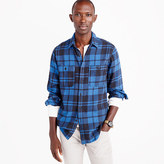 J.Crew Wallace & Barnes heavyweight flannel shirt in blue check