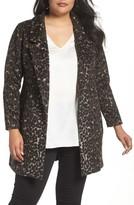 Sejour Plus Size Women's Leopard Print Jacket