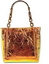 Edie Parker metallic chain strap tote bag