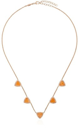 Jacquie Aiche 14kt Rose Gold Pyramid Diamond Necklace
