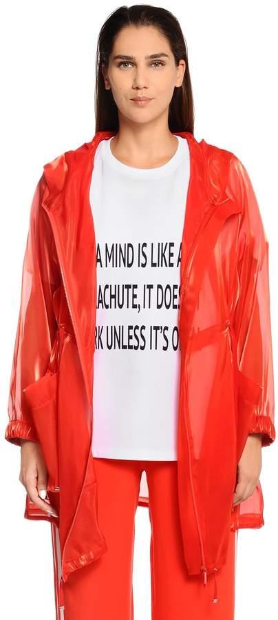 Marina Rinaldi Hooded Organza Raincoat
