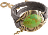 Barse FINE JEWELRY Art Smith by Green Turquoise Leather Wrap Bracelet
