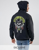 Reclaimed Vintage Inspired Guns N Roses Oversized Band Hoodie In Black With Back Print