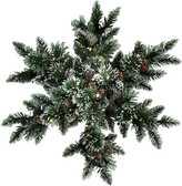 Kaleidoscope Glittery Artificial Bristle Pine Snowflake