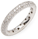 Rina Limor Fine Jewelry 3 Row Diamond Eternity Ring