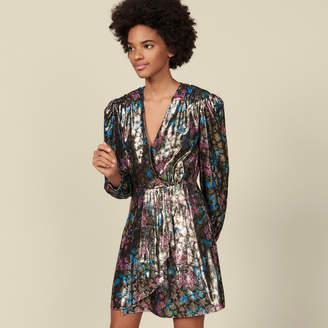 SandroSandro Short lurex jacquard dress