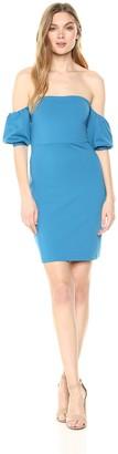 Susana Monaco Women's Melody Gathered Short Sleeve Off The Shoulder Dress