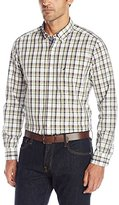 Nautica Men's Classic Fit Oyster Plaid Shirt